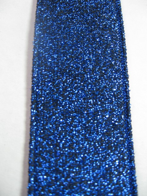 "ROYAL BLUE GLITTER ""X"" STYLE 1 1/4""X48"" long ""FORMAL WEAR"" FRENCH SATIN FINISH  Suspenders  WiTH 4 STRONG  CHROME ADJUSTERS AND GRIPS.  GF760N48ROYA"